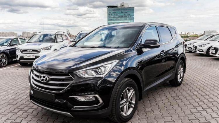 Продается Hyundai Santa Fe2017 вПерми, внедорожник, черный, дизель, цена— 2353947 рублей. Фото 1